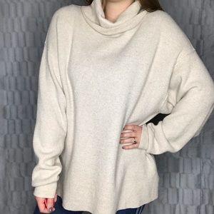 Free People Ribbed Cowl Turtleneck Tunic Sweater